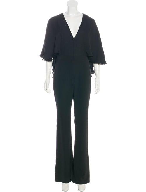 Haney V-Neck Wide-Leg Jumpsuit Black