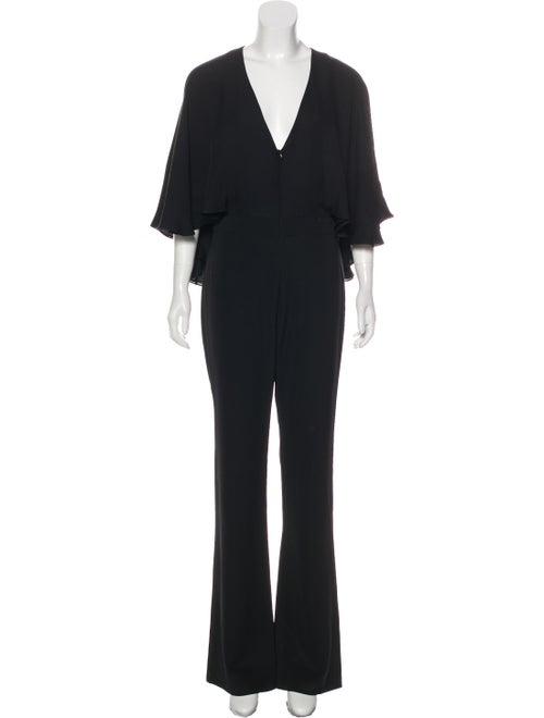 Haney Sleeveless Wide-Leg Jumpsuit Black
