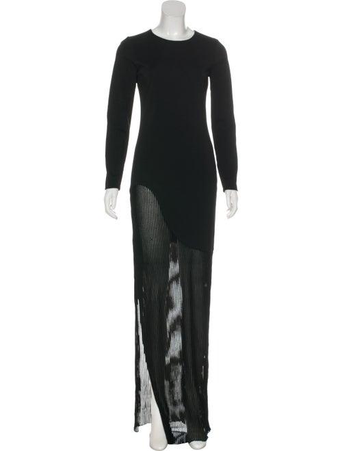 Haney Long Sleeve Evening Dress black