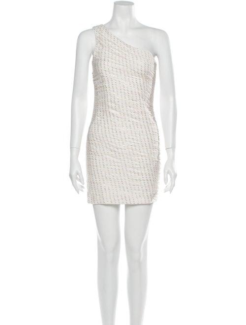 Haney One-Shoulder Mini Dress White