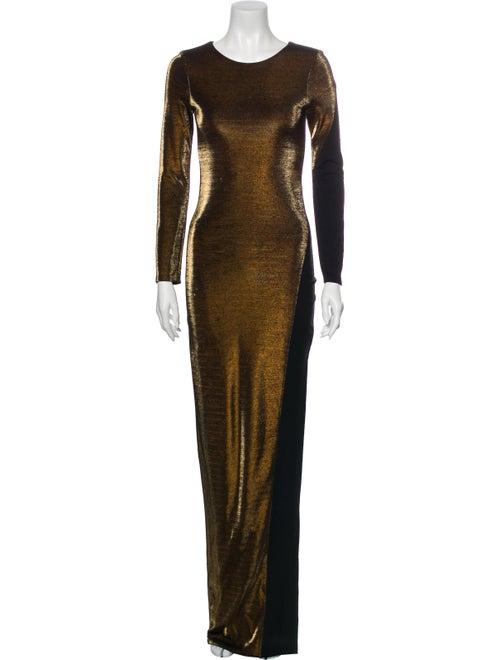 Haney Scoop Neck Long Dress Gold