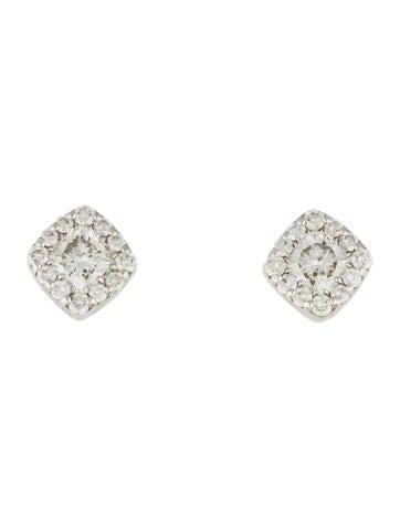 Hearts on Fire 18K Diamond Stud Earrings None