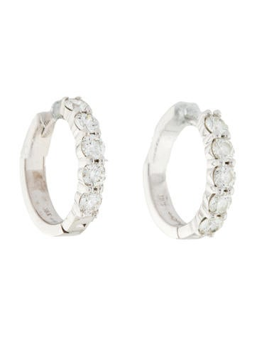 18K Diamond Mini Hoop Earrings