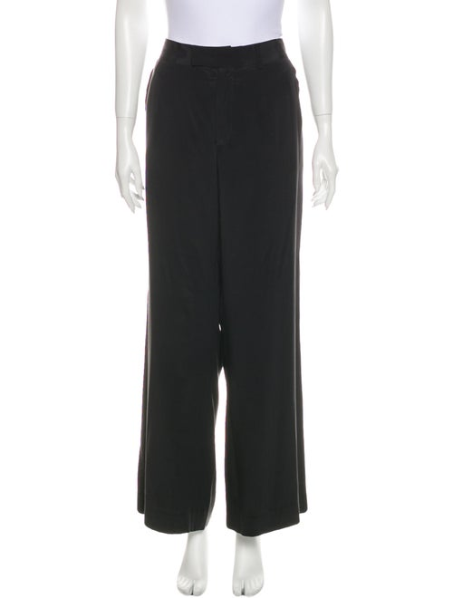 Holmes & Yang Silk Wide Leg Pants Black