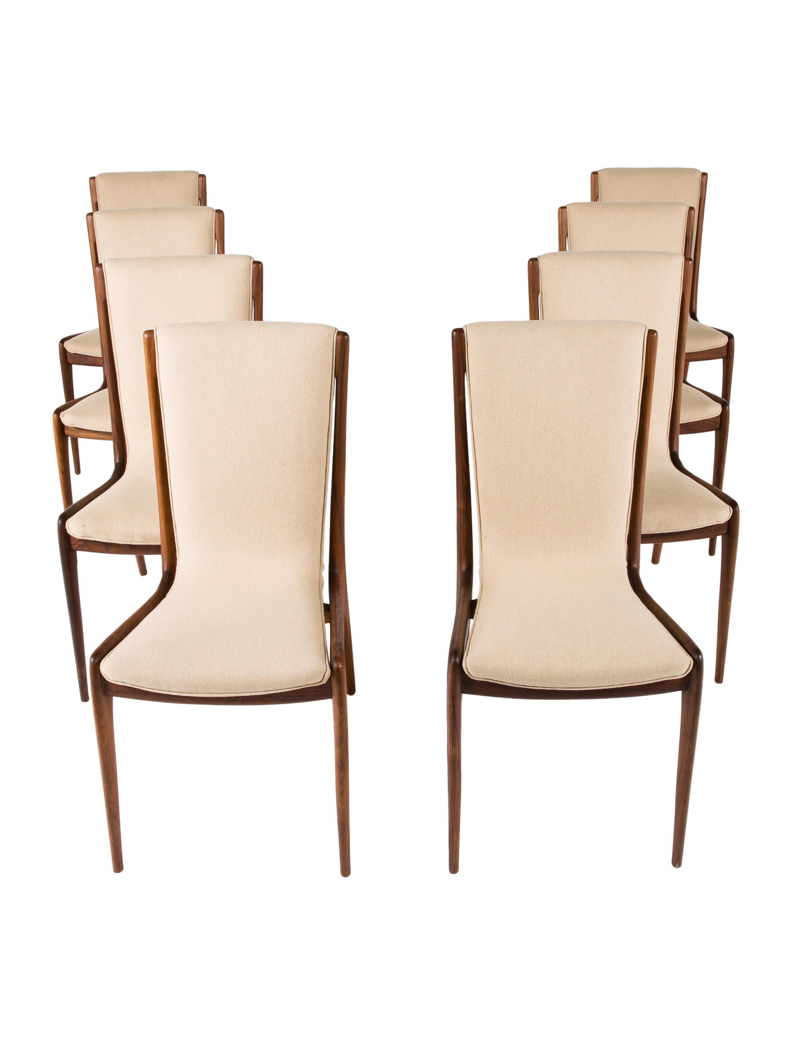 Vladimir Kagan Sculpted Sling Side Chairs