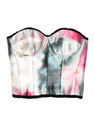 Strapless Printed Bustier Top w/ Tags