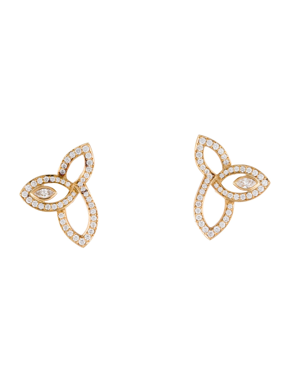 Harry Winston Lily Cluster Earrings Earrings Hrw20081