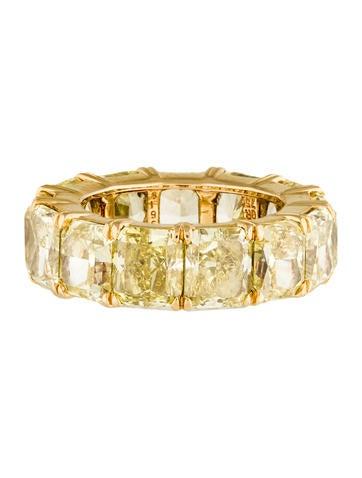 Harry Winston Yellow Diamond Eternity Band Rings