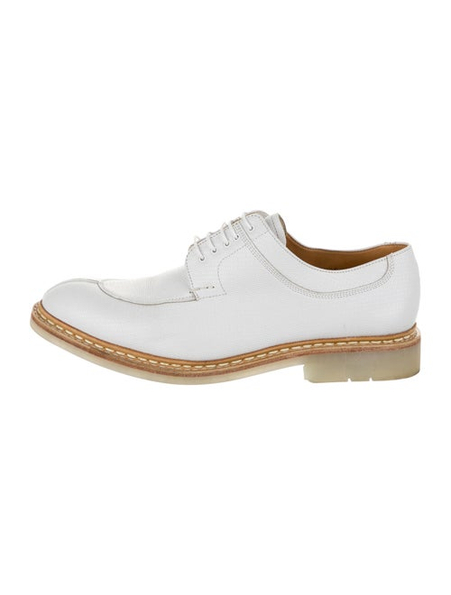 Heschung Leather Derby Shoes white