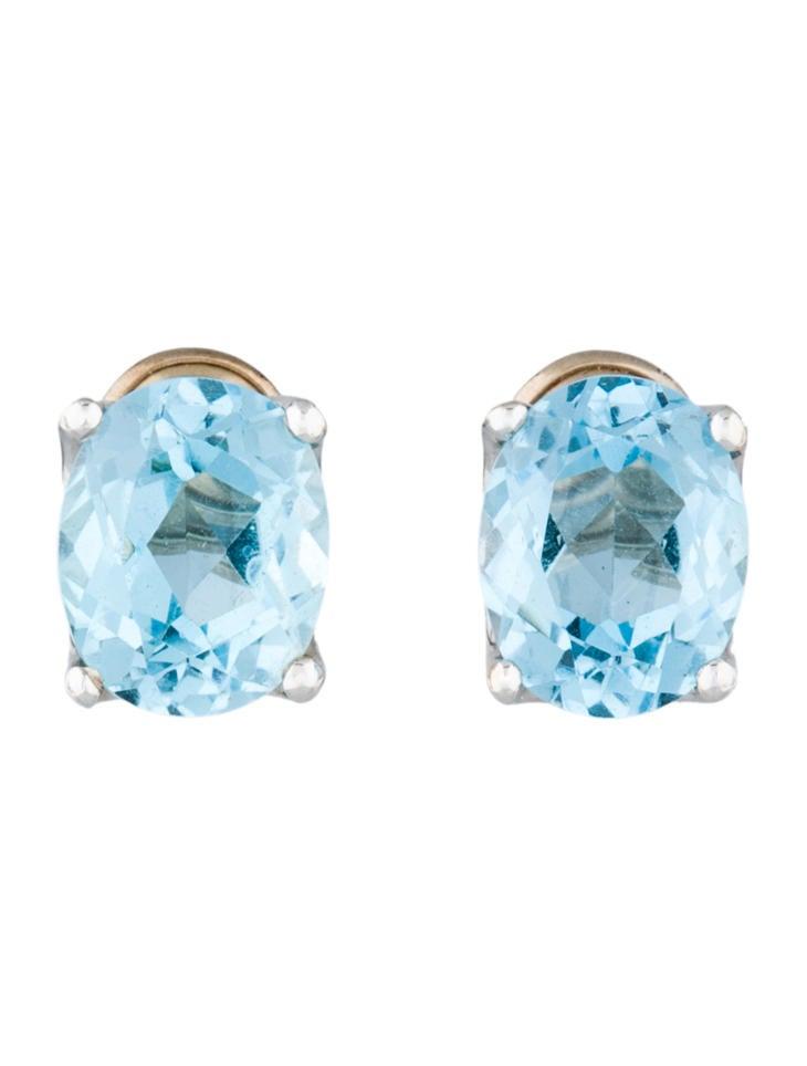 h stern blue topaz earrings earrings hst20001 the. Black Bedroom Furniture Sets. Home Design Ideas