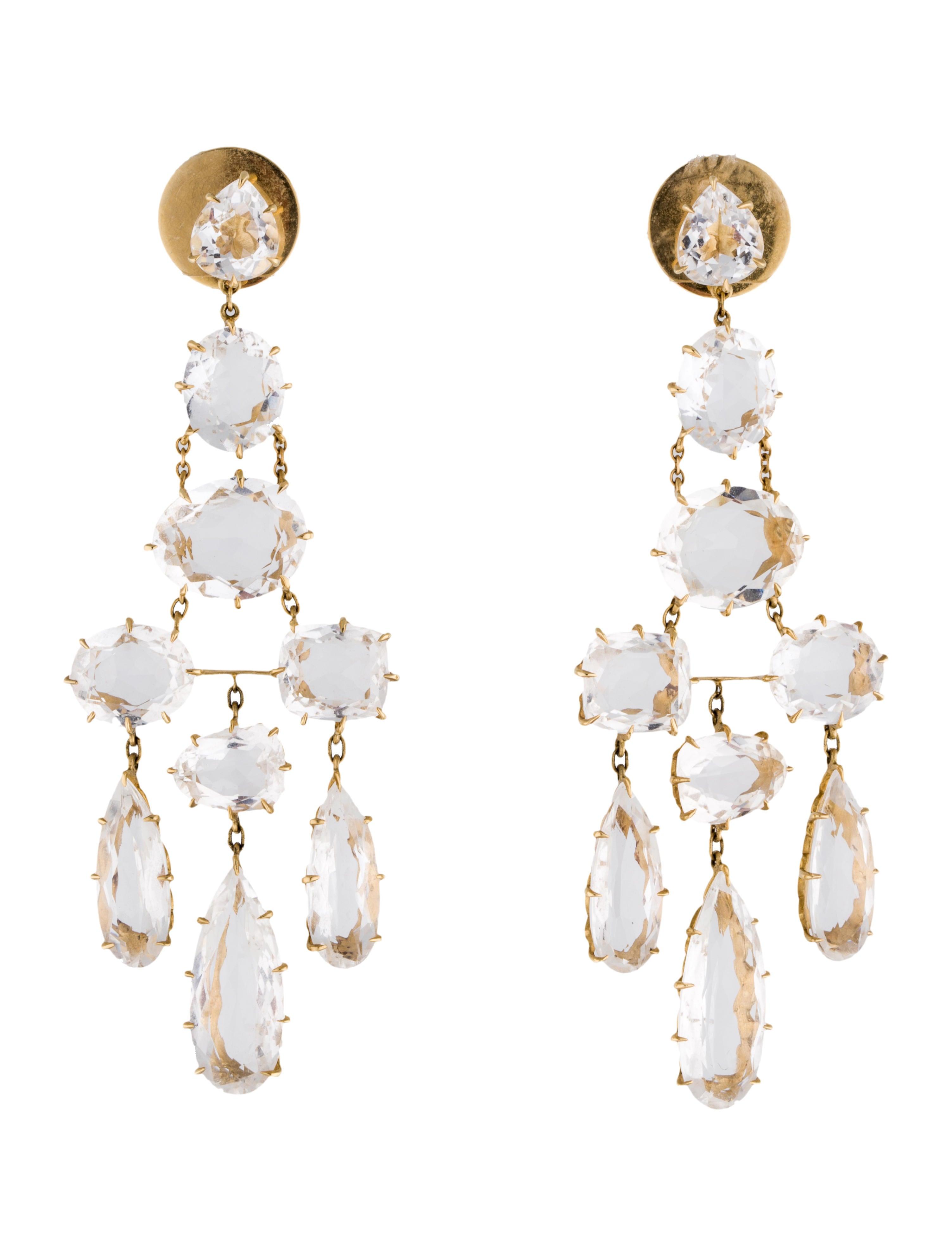 Hern rock crystal chandelier earrings earrings hst20156 rock crystal chandelier earrings arubaitofo Images