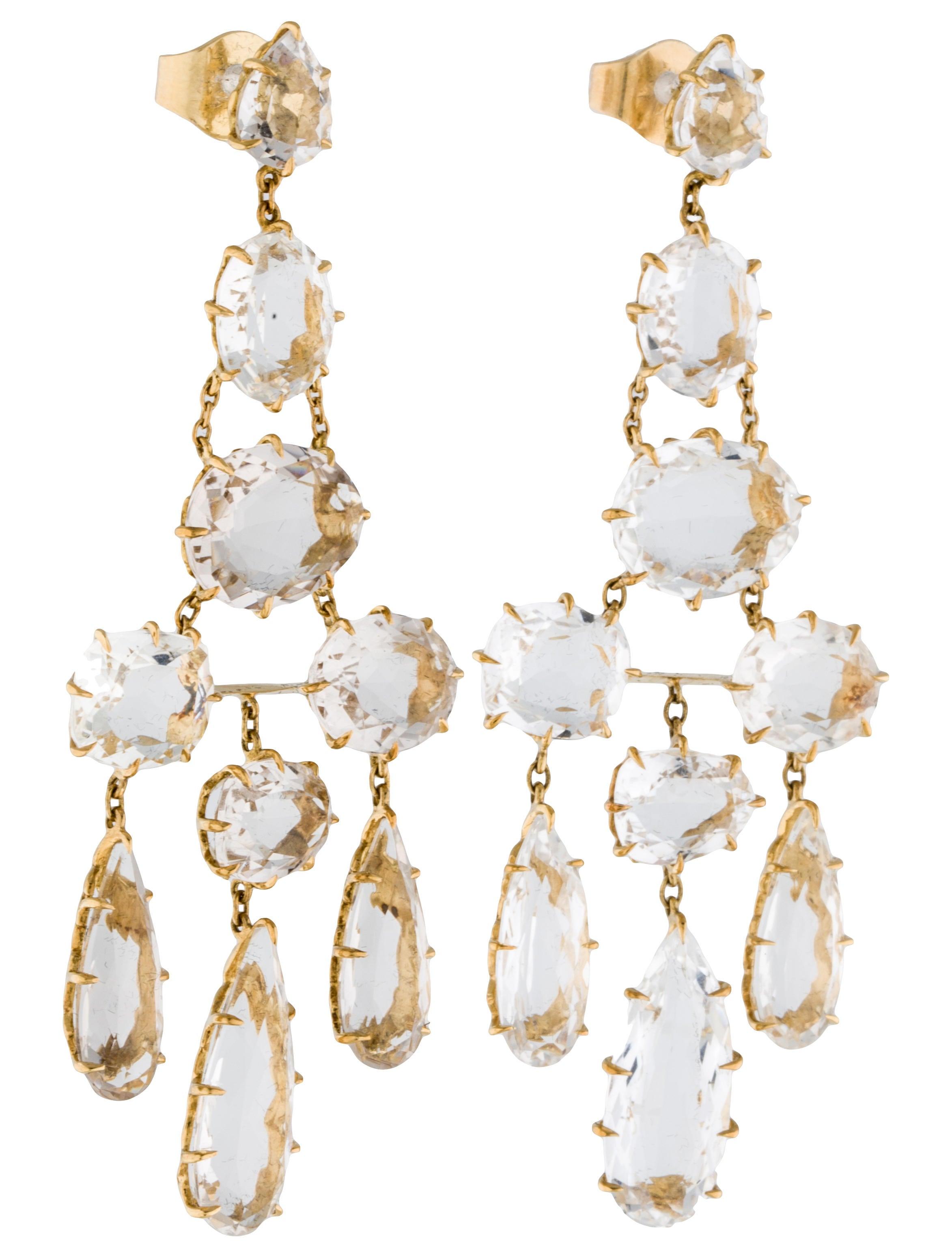Hern rock crystal chandelier earrings earrings hst20182 rock crystal chandelier earrings arubaitofo Images