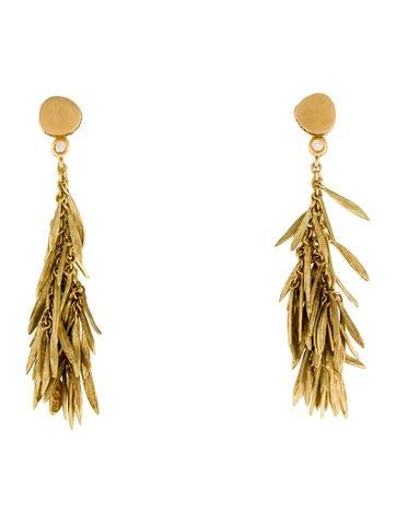 H.Stern Diamond Feather Earrings