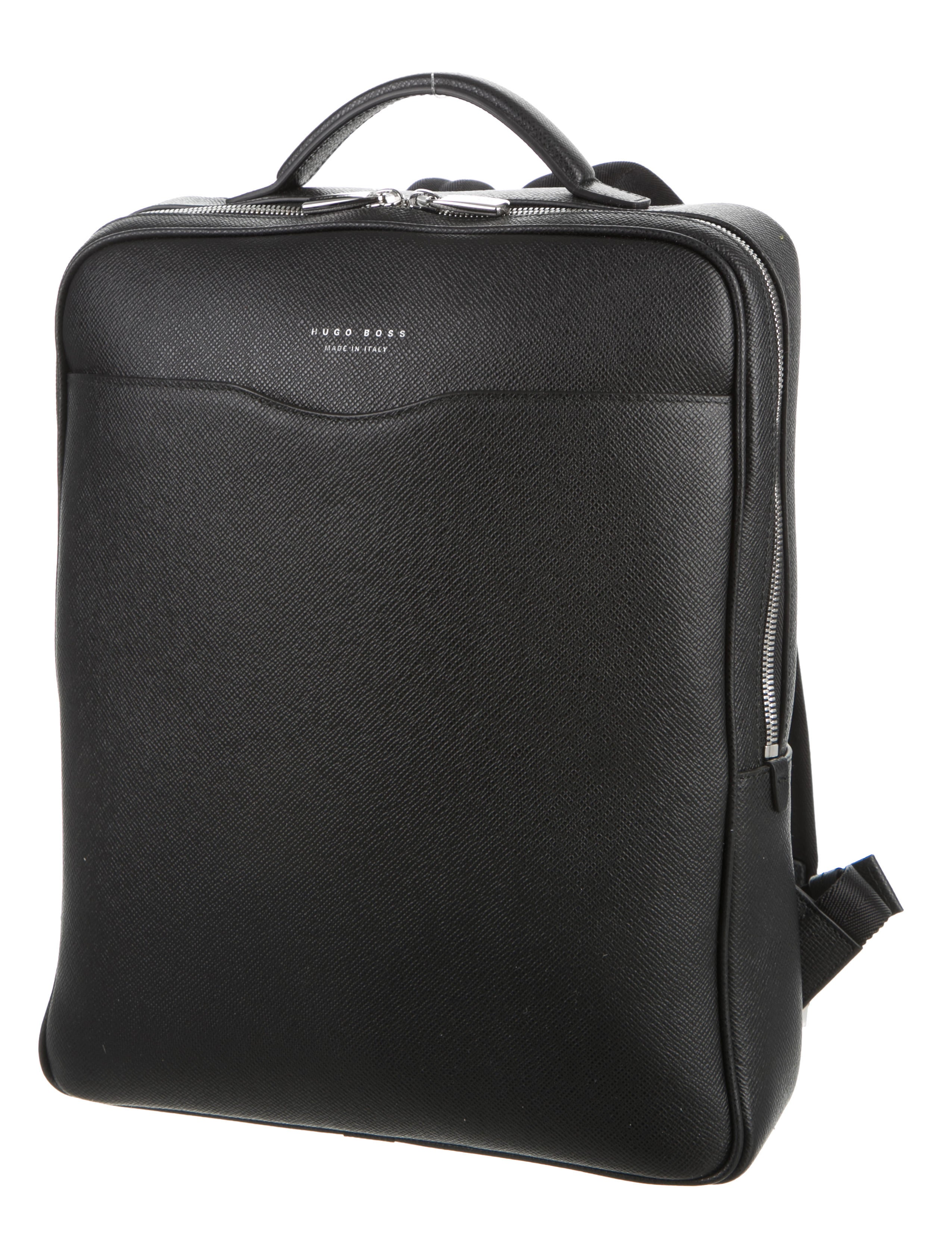 hugo boss leather signature backpack w tags bags. Black Bedroom Furniture Sets. Home Design Ideas