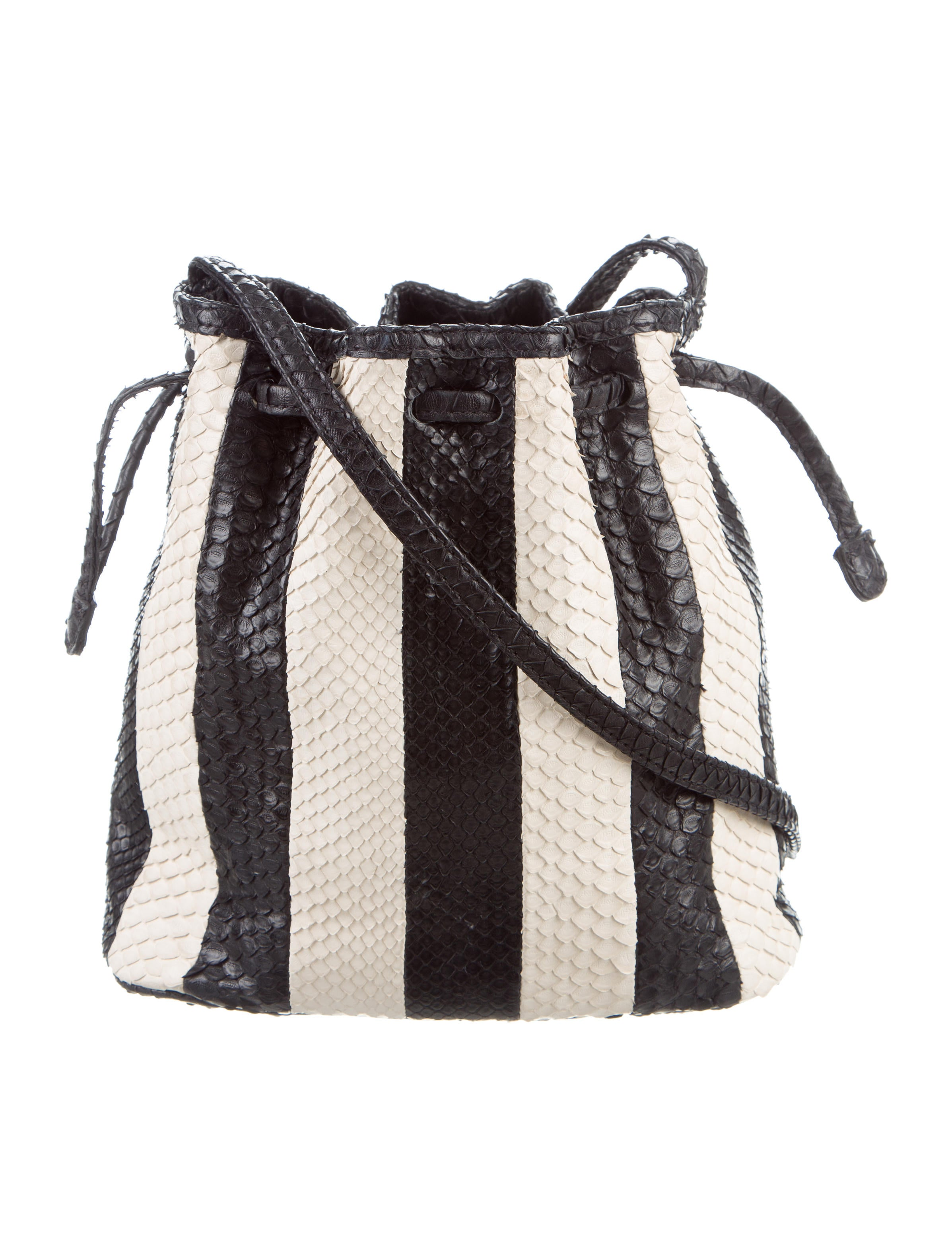 Hunting Season Striped Python Mini Bucket Bag