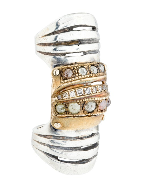 Hunrod Diamond Bondage Ring Bronze