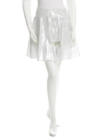 Pleat-Accented Mini Skirt