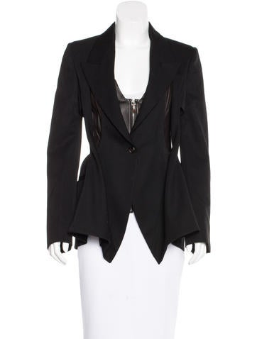 Wool and Leather Blazer Set