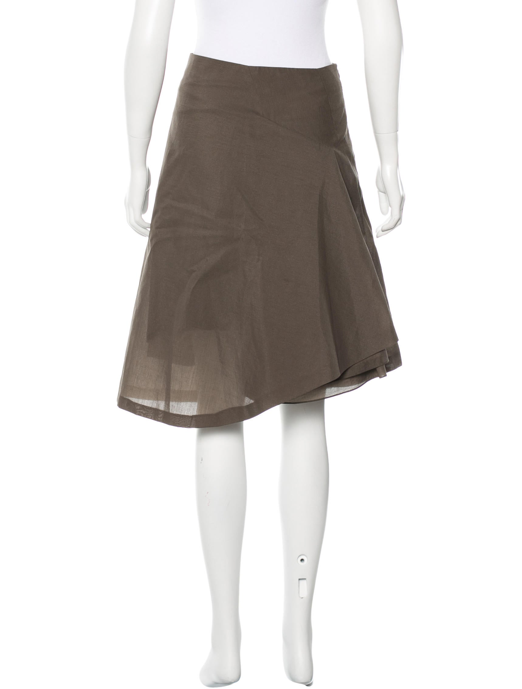 hussein chalayan wool a line skirt clothing hus20363