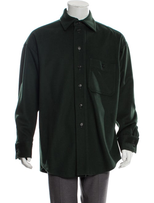 Hussein Chalayan Wool Shirt Jacket green