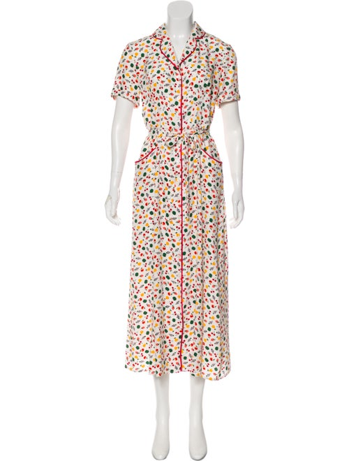 a522926c614 HVN Silk Fruit-Print Dress - Clothing - HVNAA20137