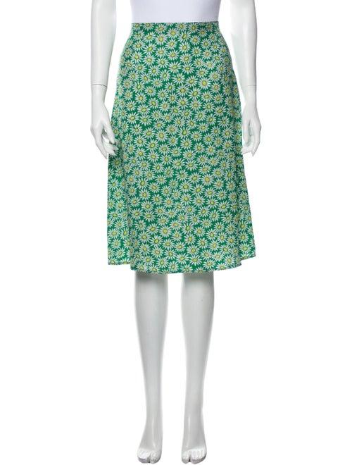 HVN Daisy Wiona Slip Knee-Length Skirt Green