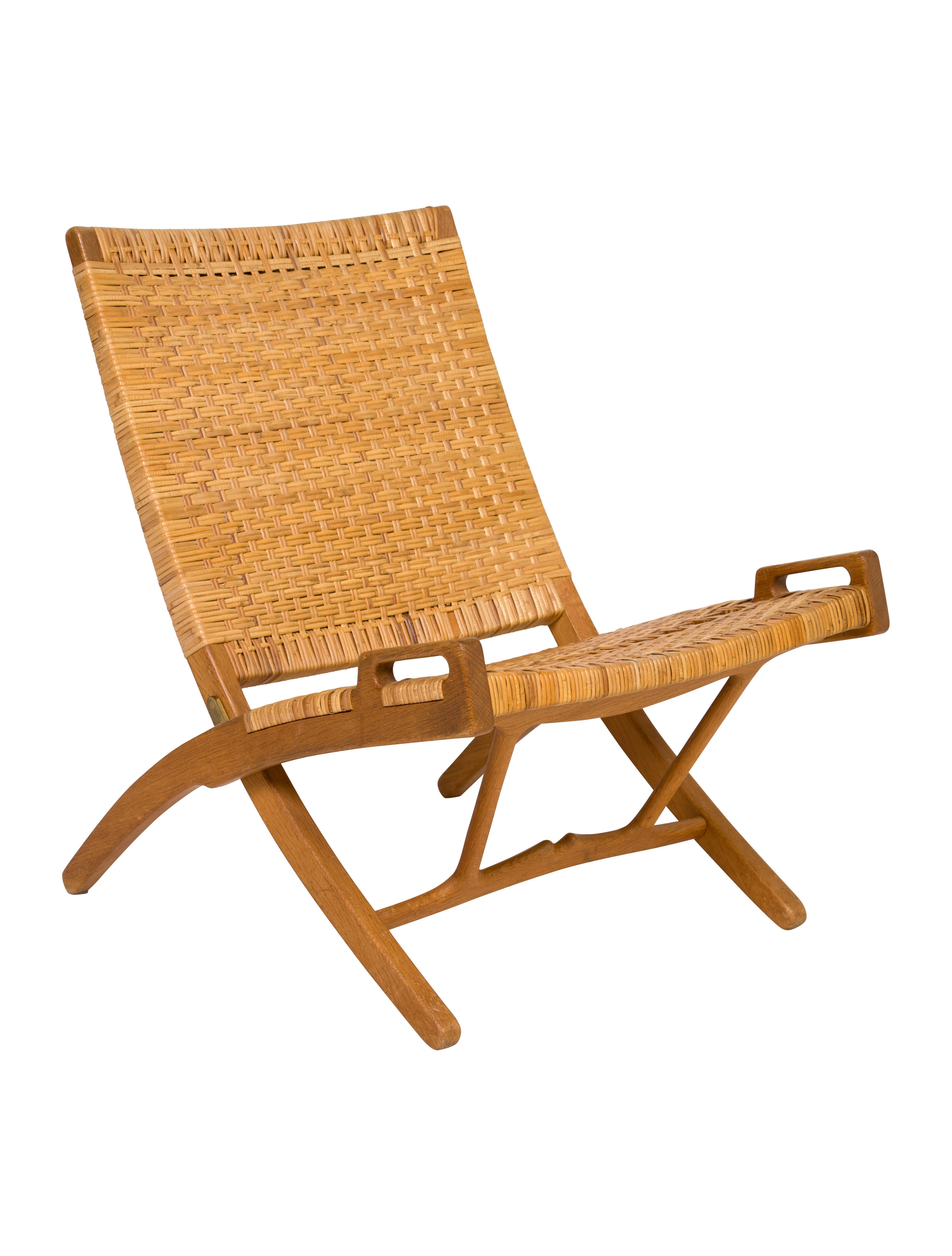 Johannes Hansen Oak Folding Chair  sc 1 st  The RealReal & Hans Wegner Johannes Hansen Oak Folding Chair - Furniture - HWG20006 ...