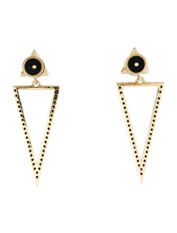 Black Diamond Bermuda Triangle Earrings