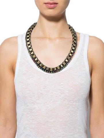 Pyramid Stud Necklace