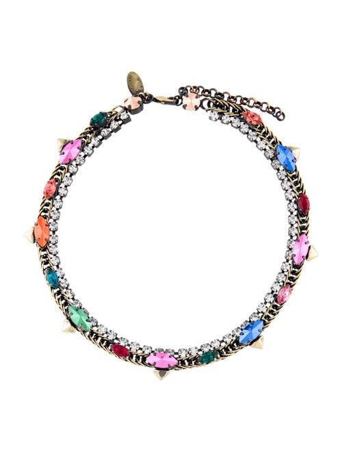 Iosselliani Crystal Collar Necklace Gold