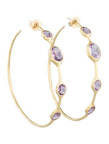 Rock Candy Amethyst Hoop Earrings