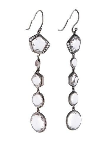 Quartz and Diamond Drop Earrings