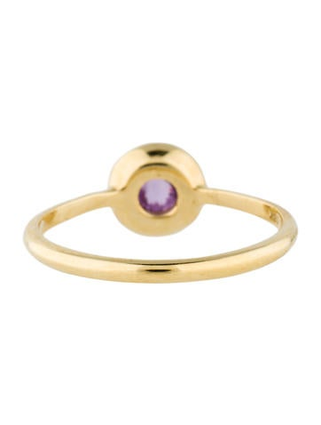18K Lollipop Mini Ring in Dark Amethyst with Diamonds