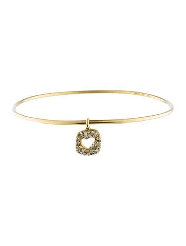 Ippolita 18K Diamond Heart Bangle