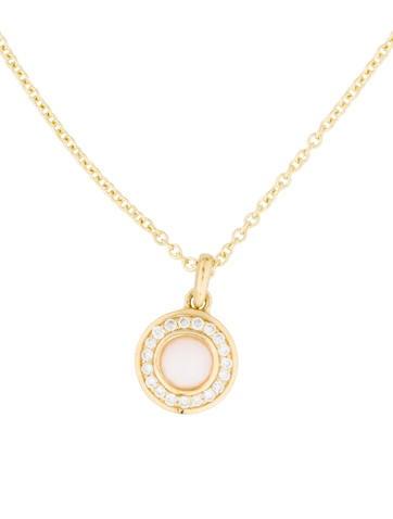 Ippolita 18K Pink Opal & Diamond Mini Lollipop Pendant Necklace