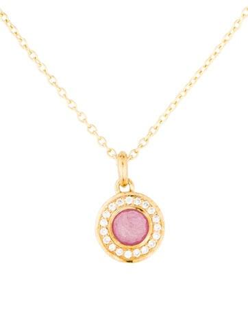 Ippolita 18K Composite Ruby & Diamond Mini Lollipop Pendant Necklace