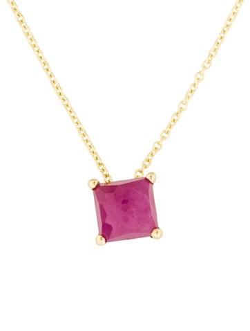 Ippolita 18K Composite Ruby Mini Rock Candy Pendant Necklace