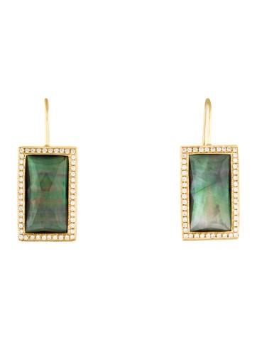 Ippolita 18K Diamond & Mother of Pearl Gelato Drop Earrings