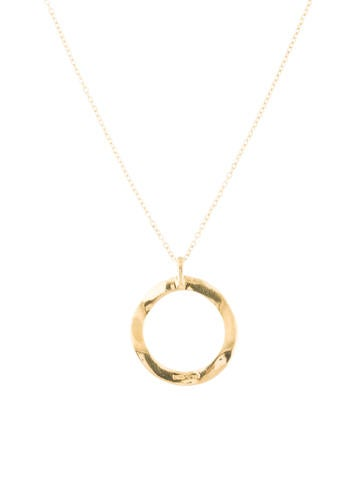 Ippolita Mini Wavy Circle Pendant Necklace anHMEDMtL