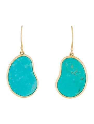 Ippolita 18k turquoise kidney drop earrings earrings for Jewelry made from kidney stones