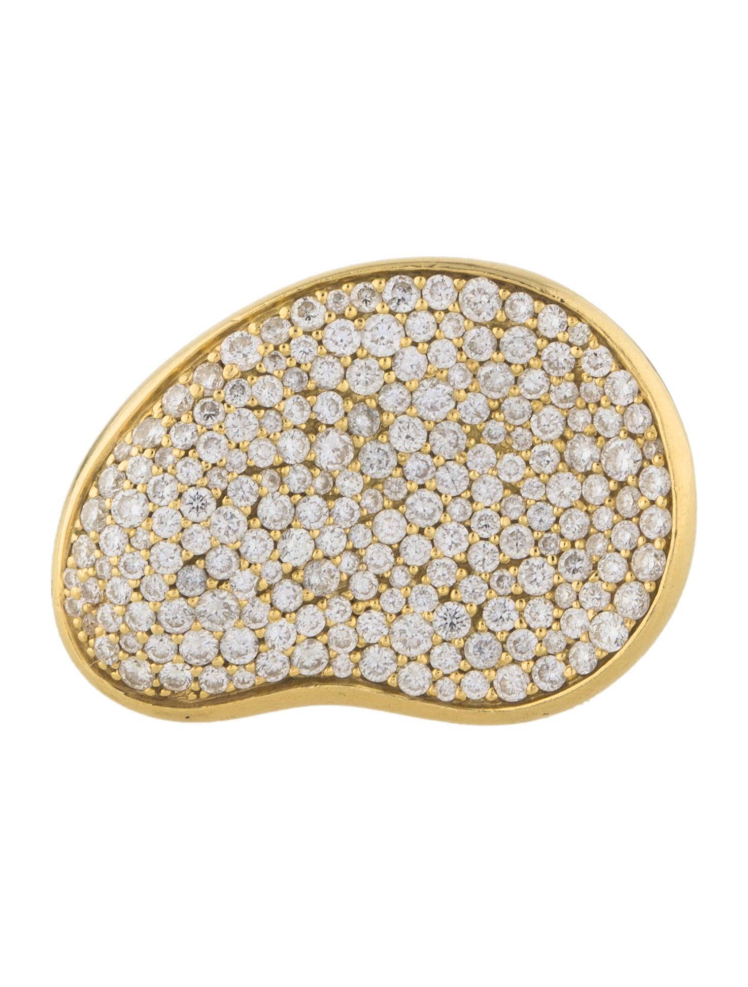 18k diamond stardust kidney bean ring