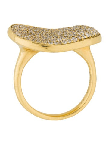 Ippolita 18k diamond stardust kidney bean ring rings for Jewelry made from kidney stones