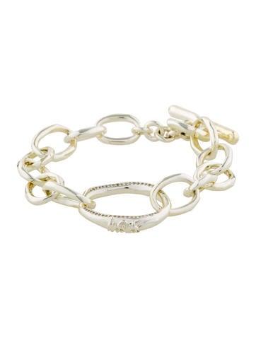 Ippolita Sterling Diamond Scultura Fine Link Bracelet None