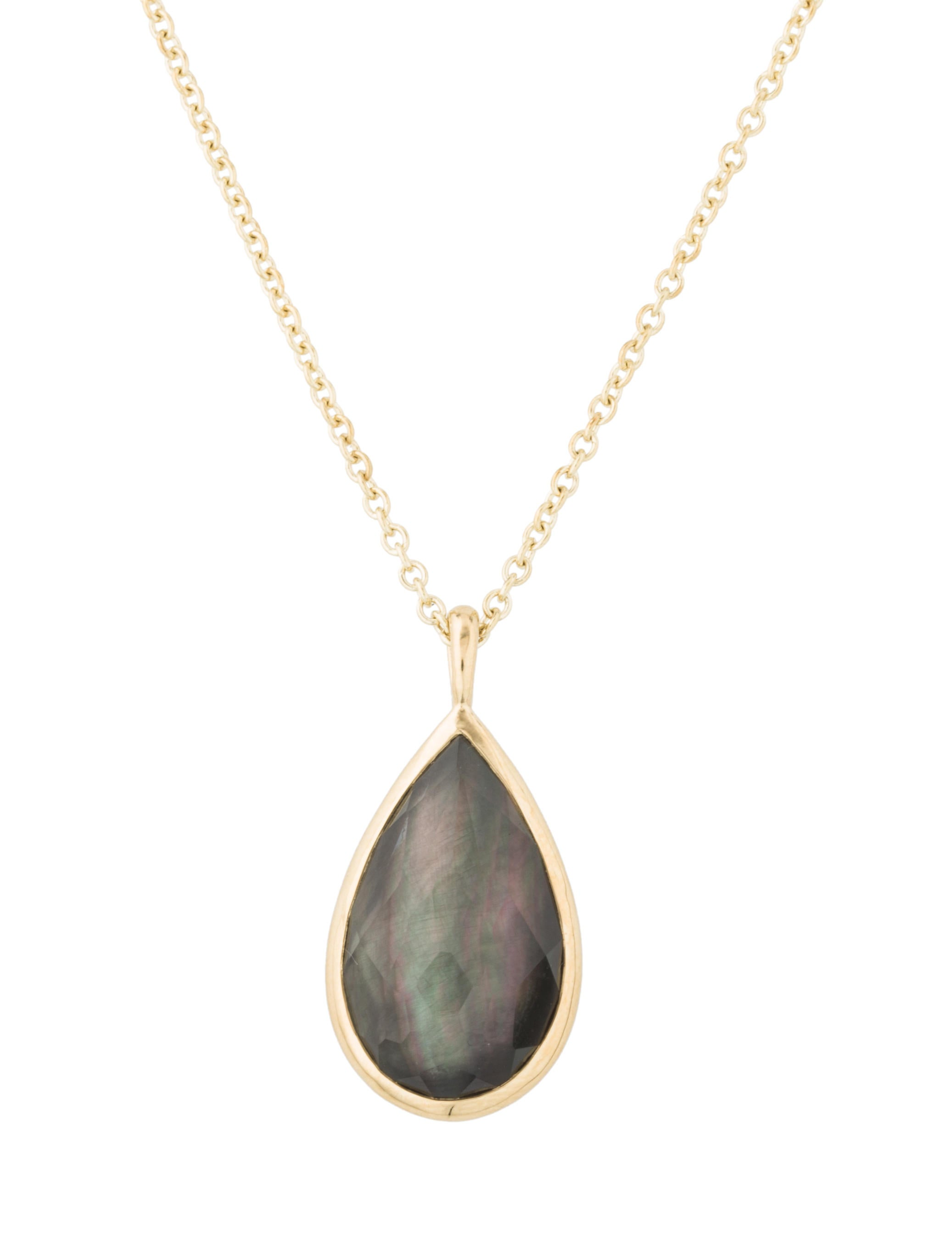 Ippolita 18k Rock Candy Medium Teardrop Pendant Necklace SOn5xWV