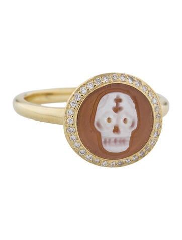 ippolita skull cameo u0026 diamond lollipop ring w