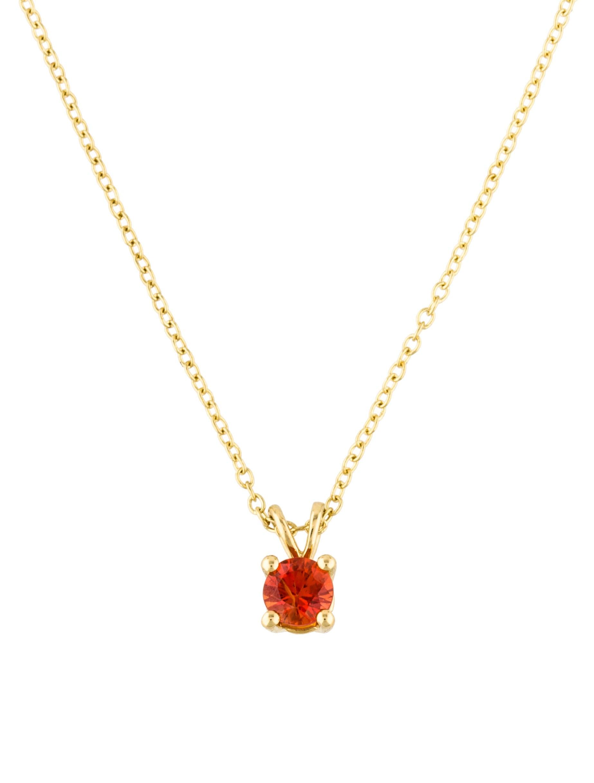 Ippolita 18k orange sapphire mini single stone pendant necklace 18k orange sapphire mini single stone pendant necklace aloadofball Image collections
