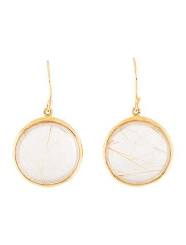 Ippolita 18k Rutilated Quartz Drop Earrings Earrings