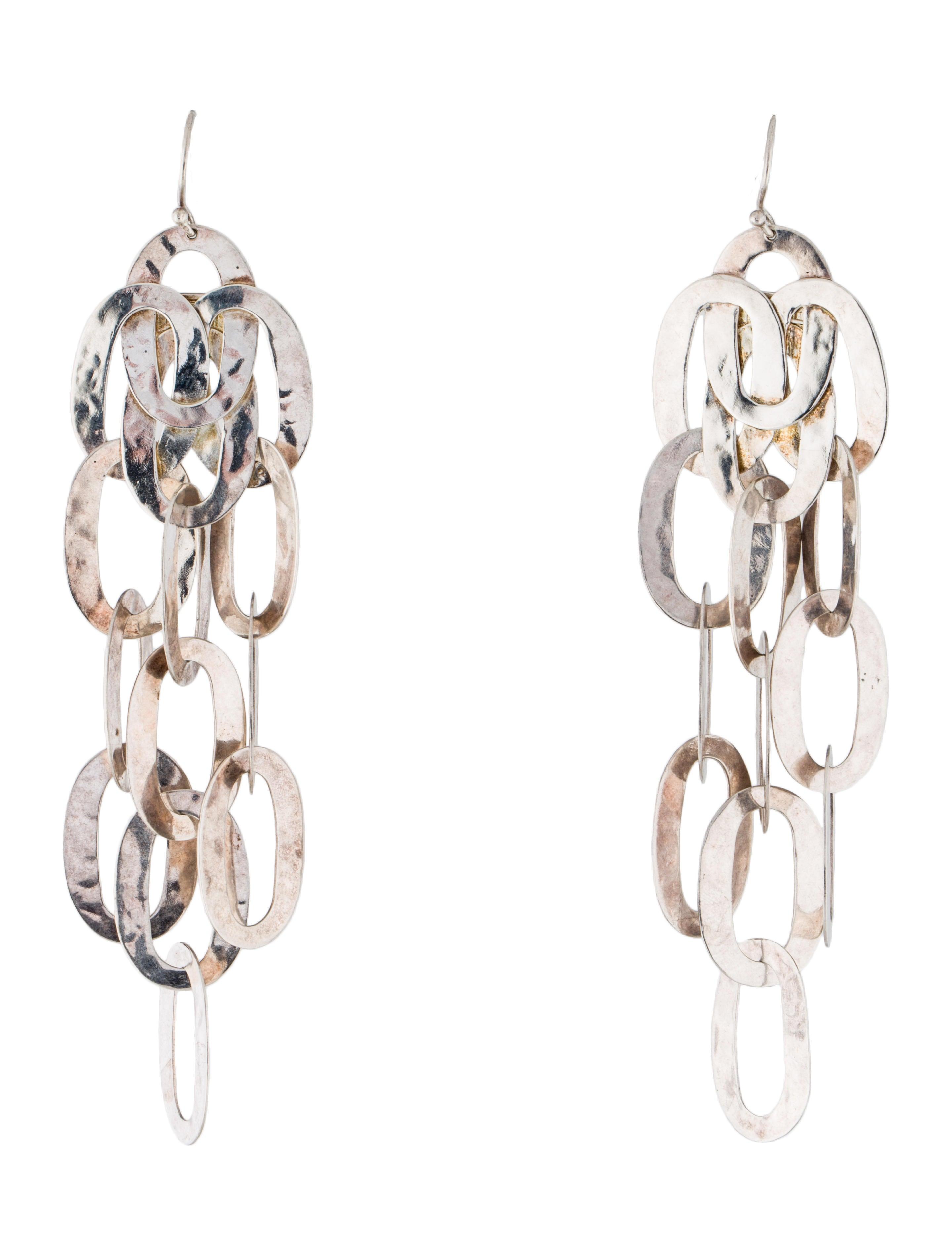 Ippolita classico hammered oval chandelier earrings earrings classico hammered oval chandelier earrings arubaitofo Images