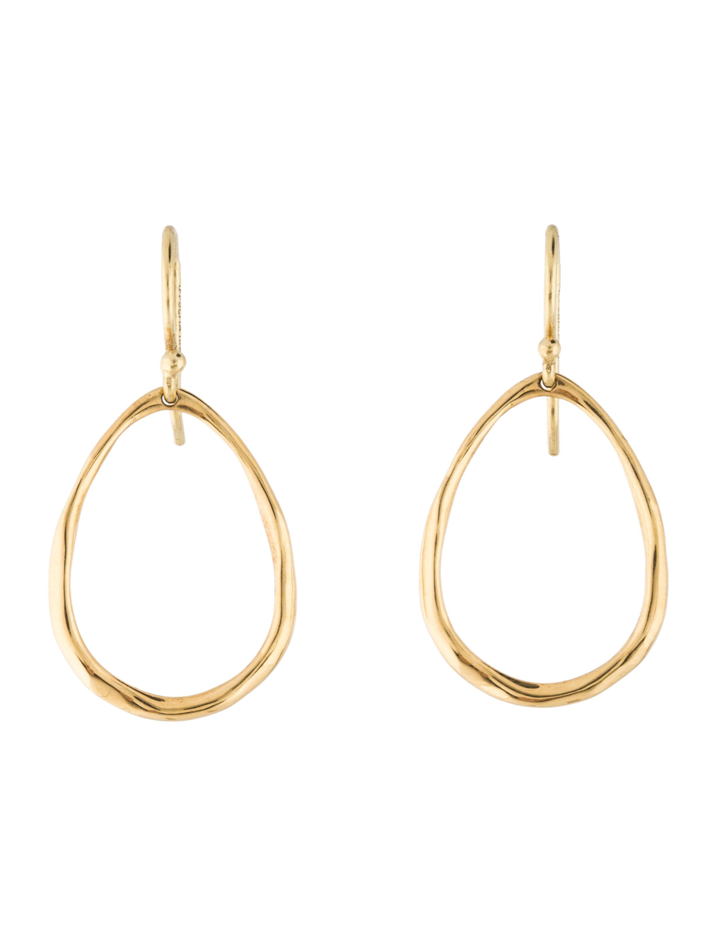 Ippolita 18K Gold Mini Squiggle Open Teardrop Earrings aJ3Ic