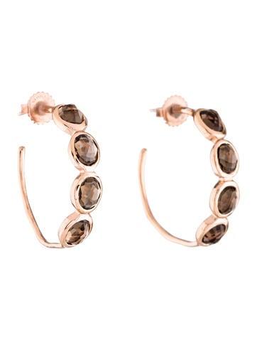 Ippolita Smoky Quartz Rosé Hoop Earrings None